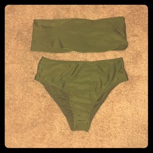 NEW army green bathing suit